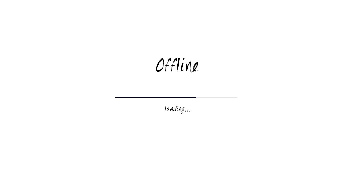 Sometimes you should be offline