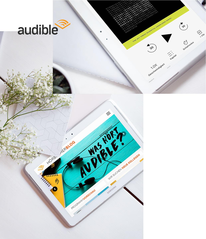 audible als Reisebegleiter mit praktischer Smartphone App