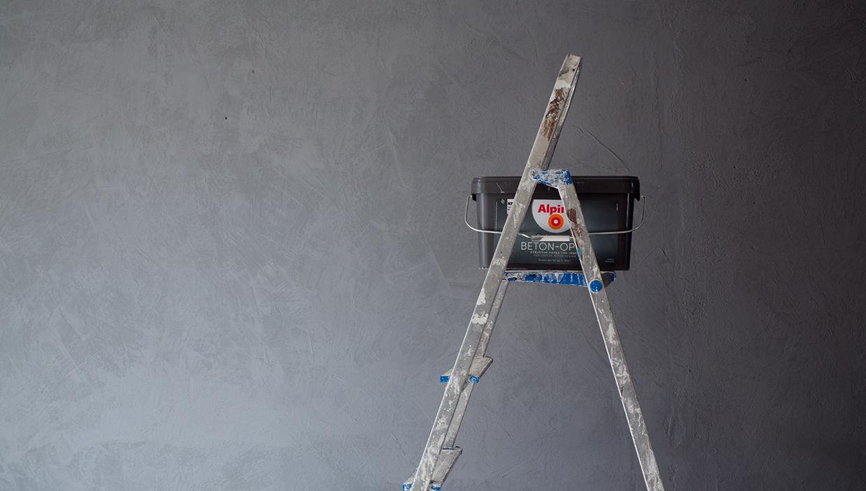 interiordesign diy eine wand in beton optik the coco question. Black Bedroom Furniture Sets. Home Design Ideas
