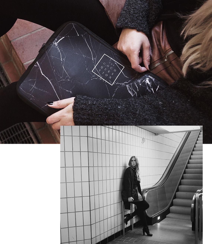 selbst designte Notebook Tasche