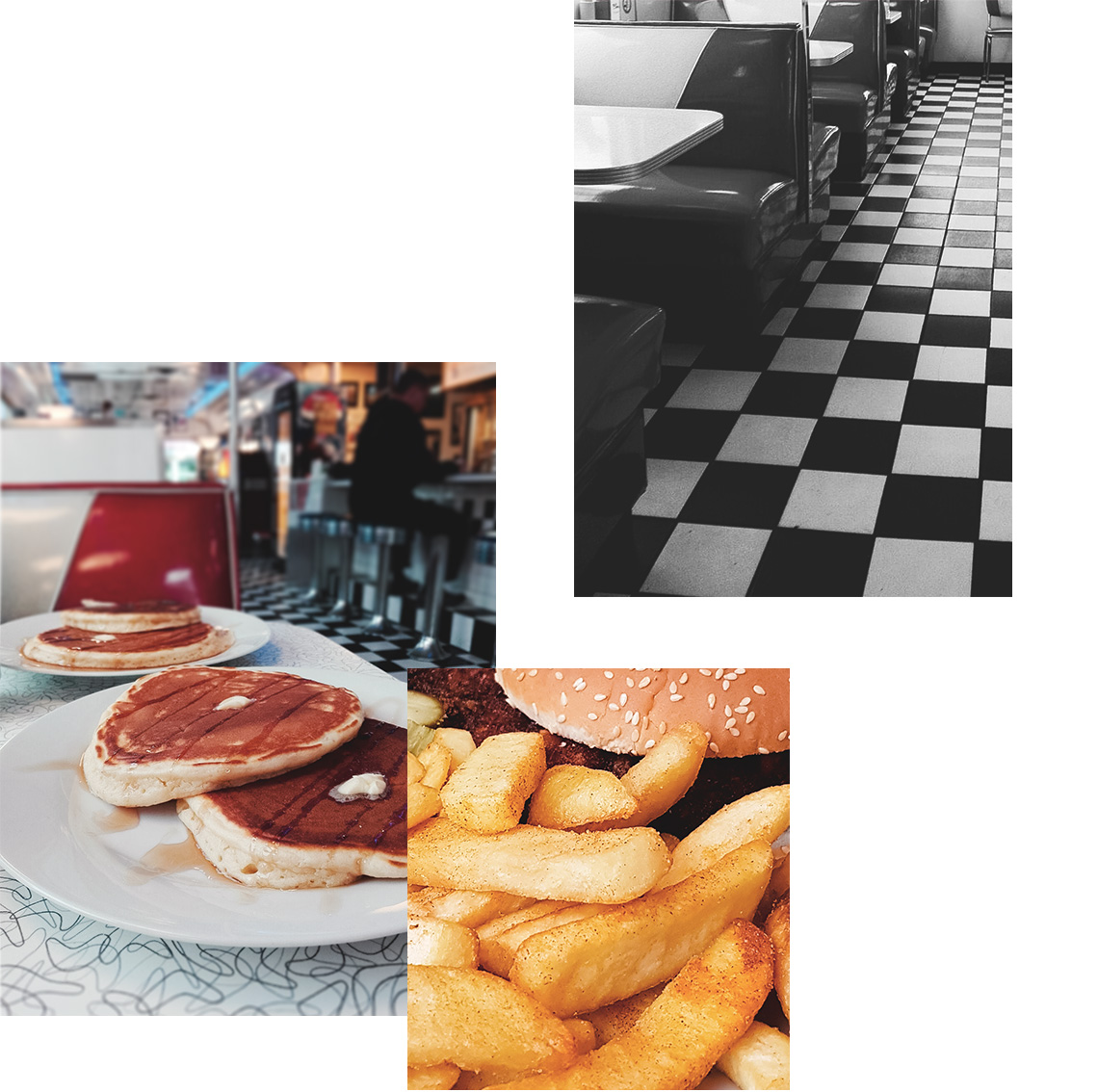 Mels Diner und Knoblauch Parmesan Pommes