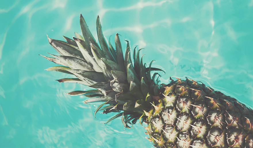 Im Sommer liebe ich Ananas